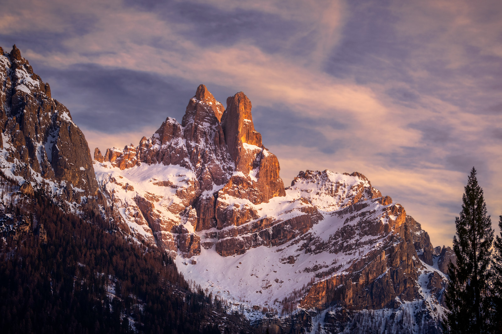 Italy, Dolomites, Mountains, Snow Covered, limited edition, photograph, fine art, landscape, photo