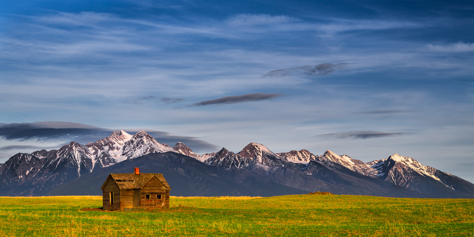 Montana, Mission Range, Mountain, House, limited edition, photograph, fine art, landscape, photo
