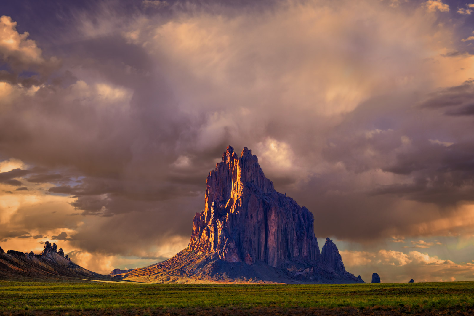 New Mexico, Shiprock, Storms, Arizona