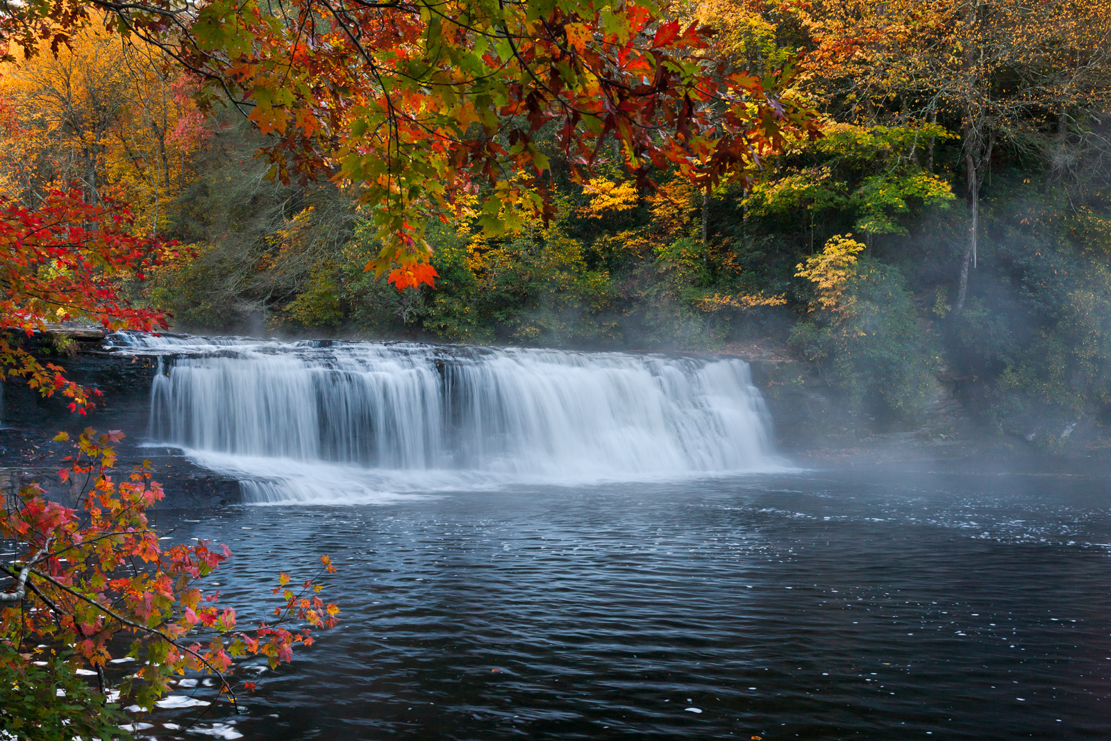 North Carolina, Hooker Falls, Waterfall, Fall Color, limited edition, photograph, fine art, landscape, photo