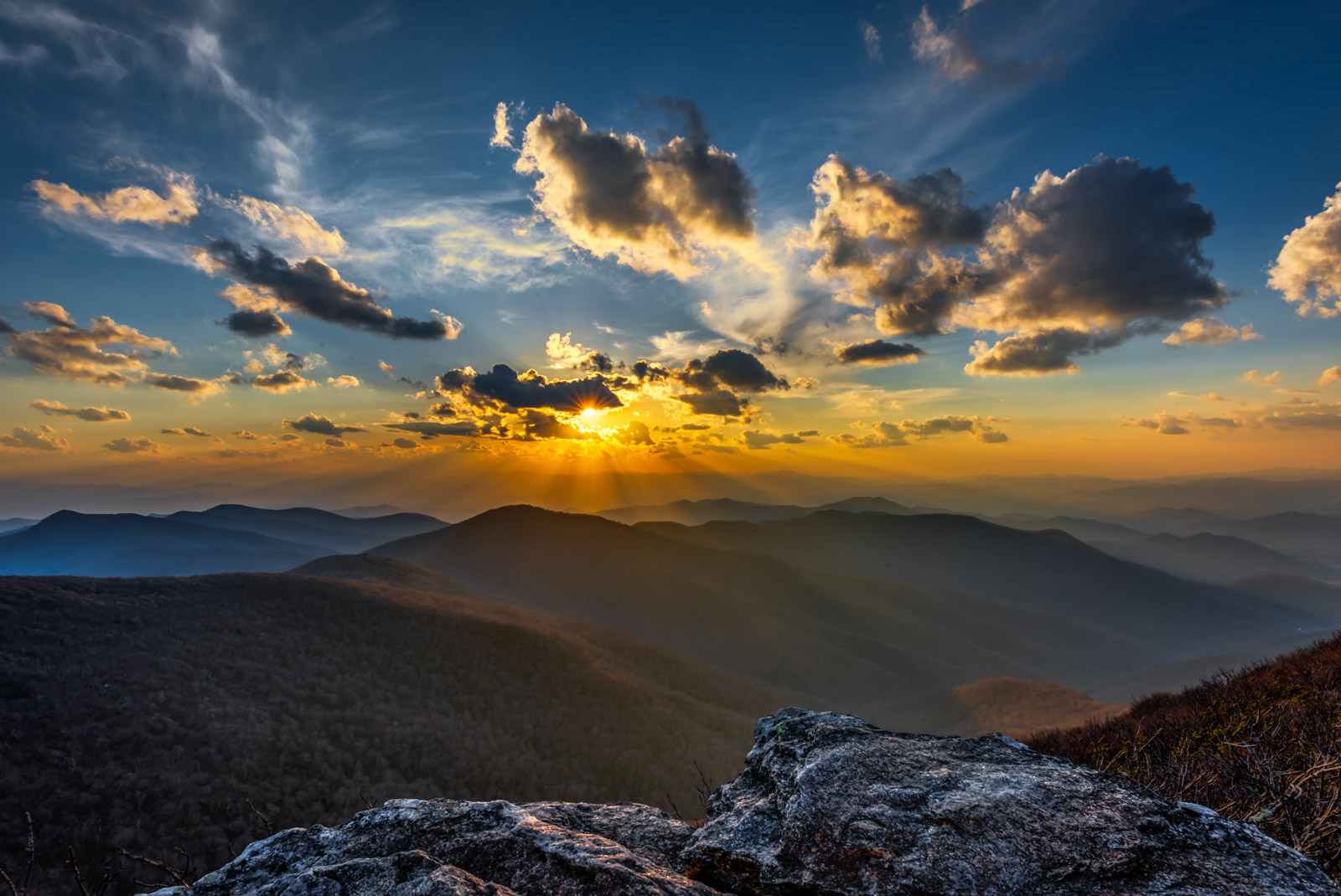 North Carolina, Mountain, Blue Ridge, Sunset, Craggy Gardens, photo