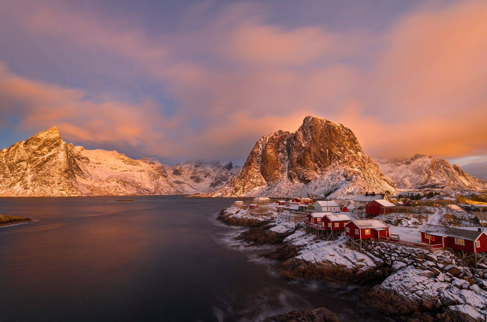 Norway, Lofoten, Renie, Morning