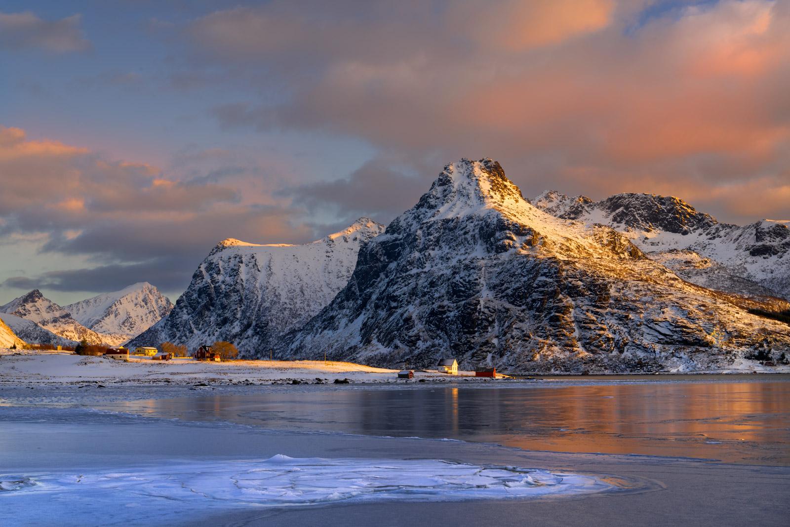 Norway, Lofoten, fjord, , photo
