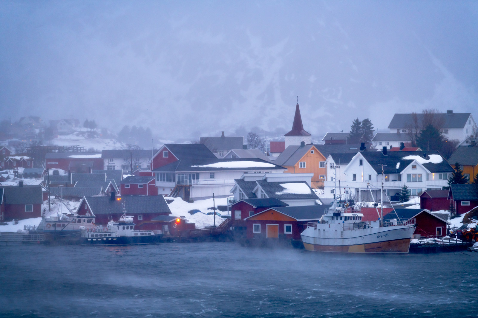 Norway, Reine, Harbor, Storm, limited edition, photograph, photo