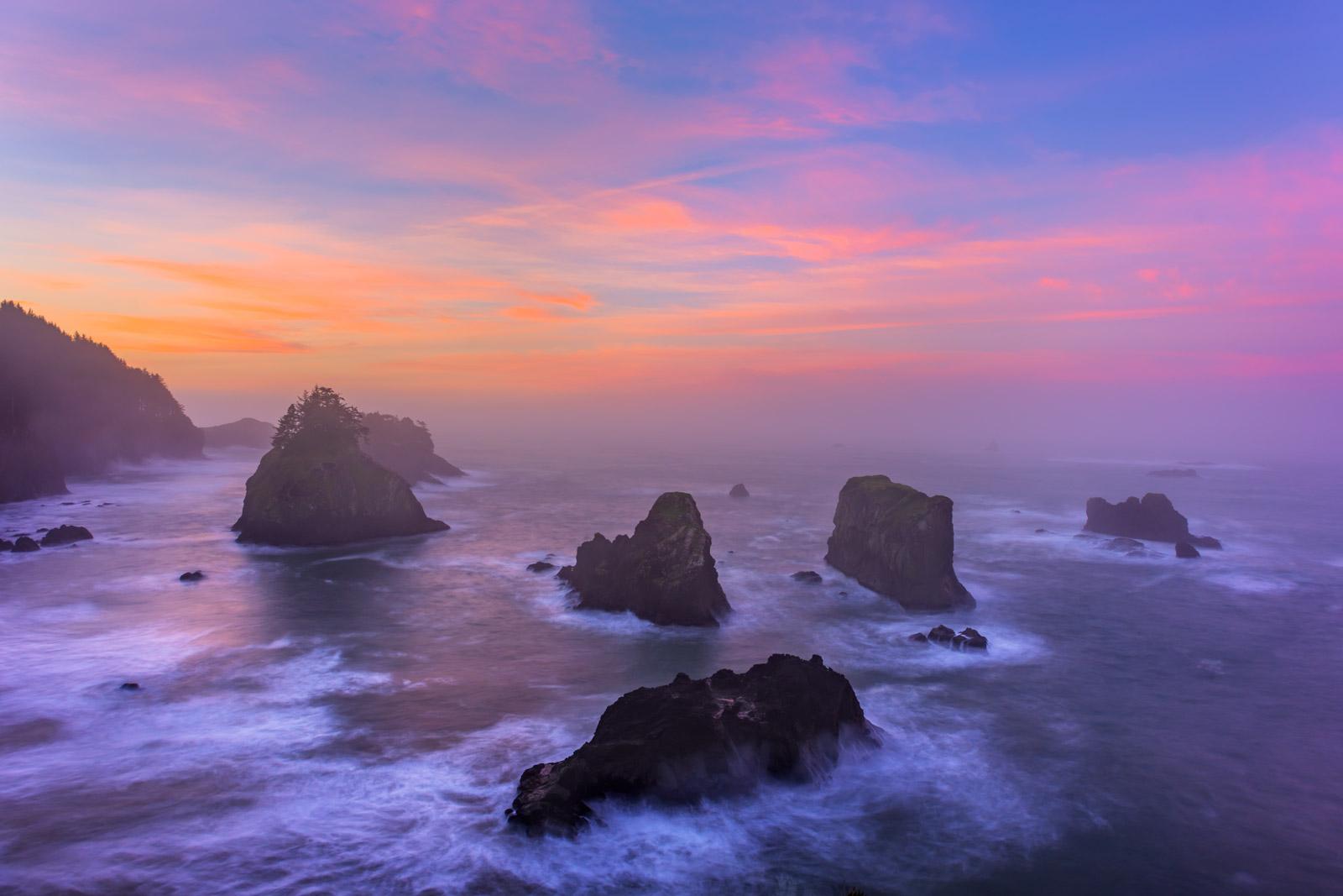 Oregon, Sea Stacks, Samuel Boardman, Sunrise, Oregon Coast