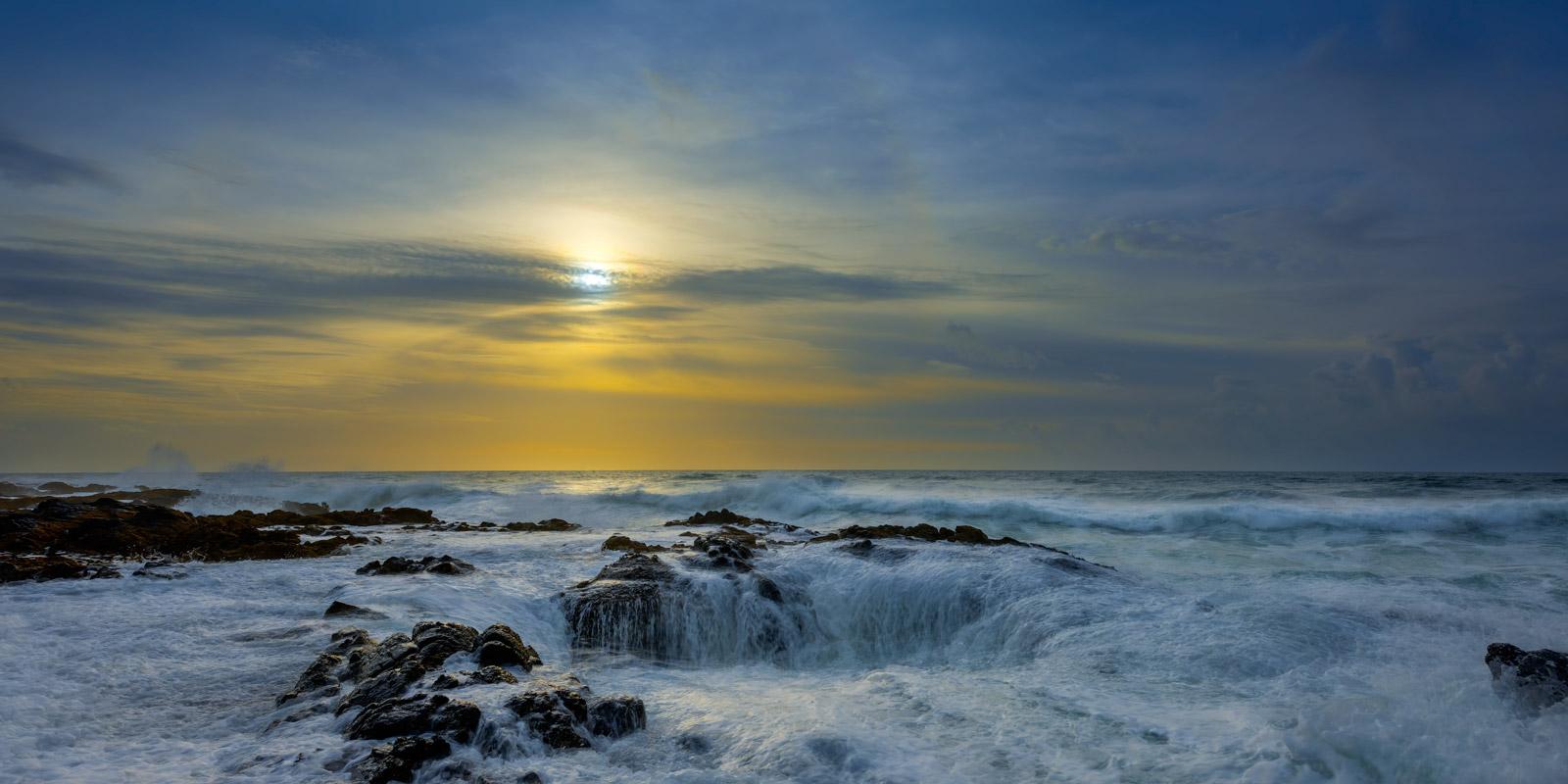 Oregon, Thors Well, Sunset, Storm, coast, photo
