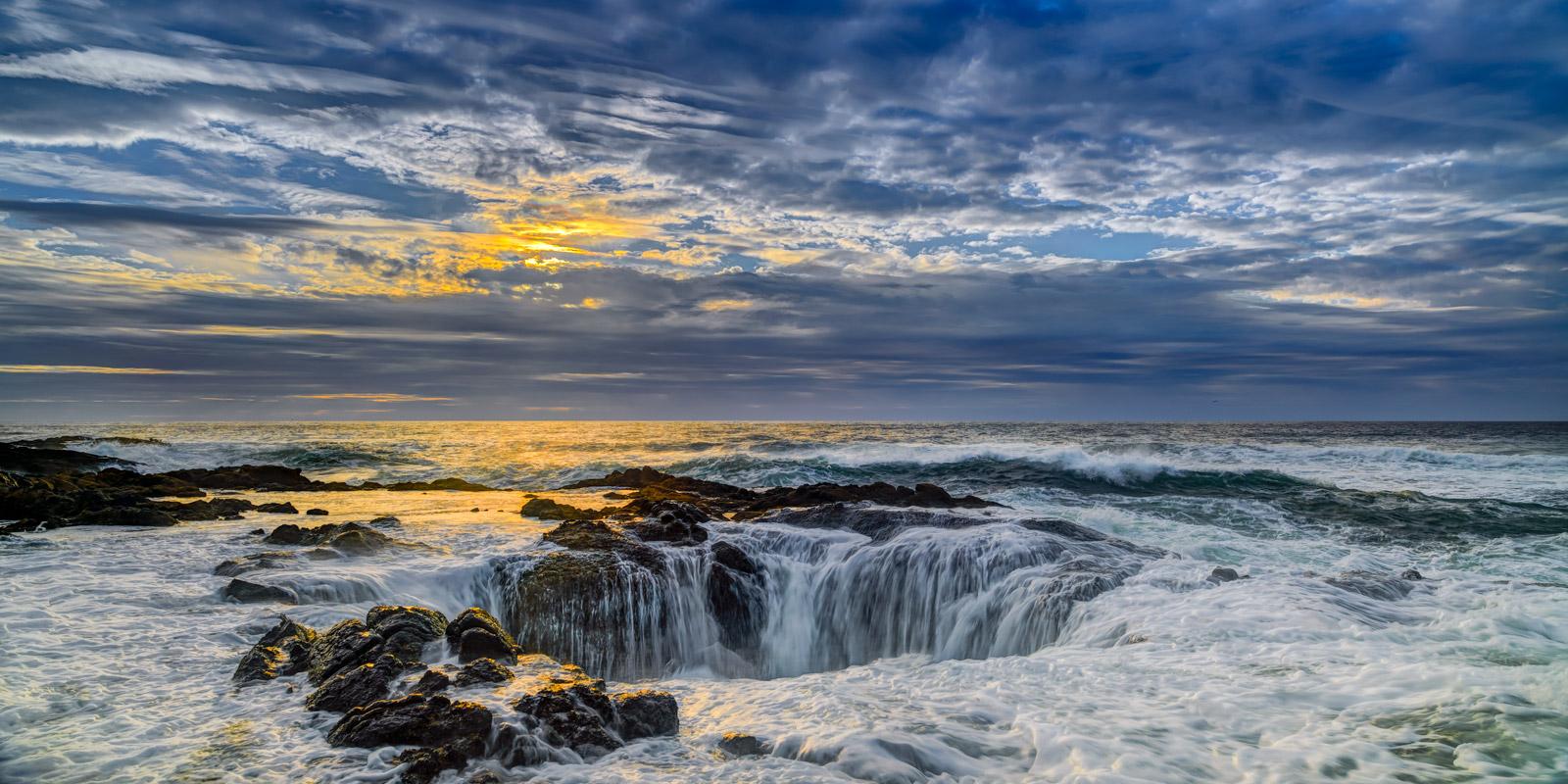 Oregon, Thors Well, Sunset, Coast, limited edition, photograph, fine art, landscape, coast, photo