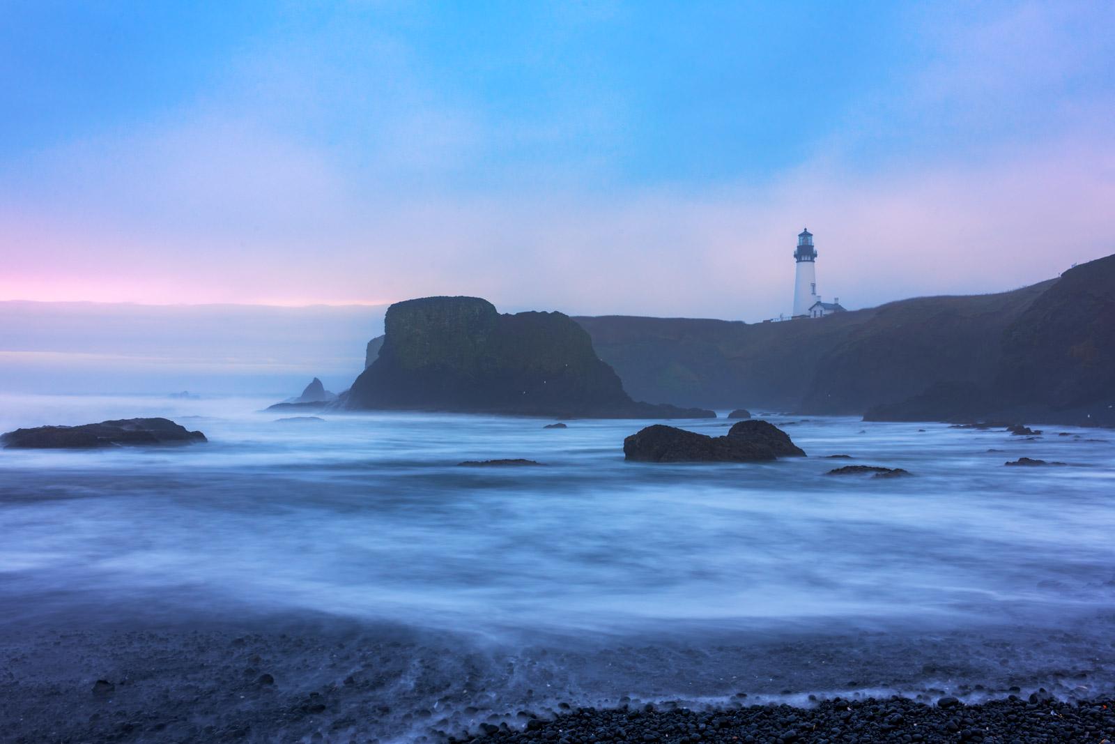Oregon, Yaquina, Yaquina Head, Lighthouse, Fog