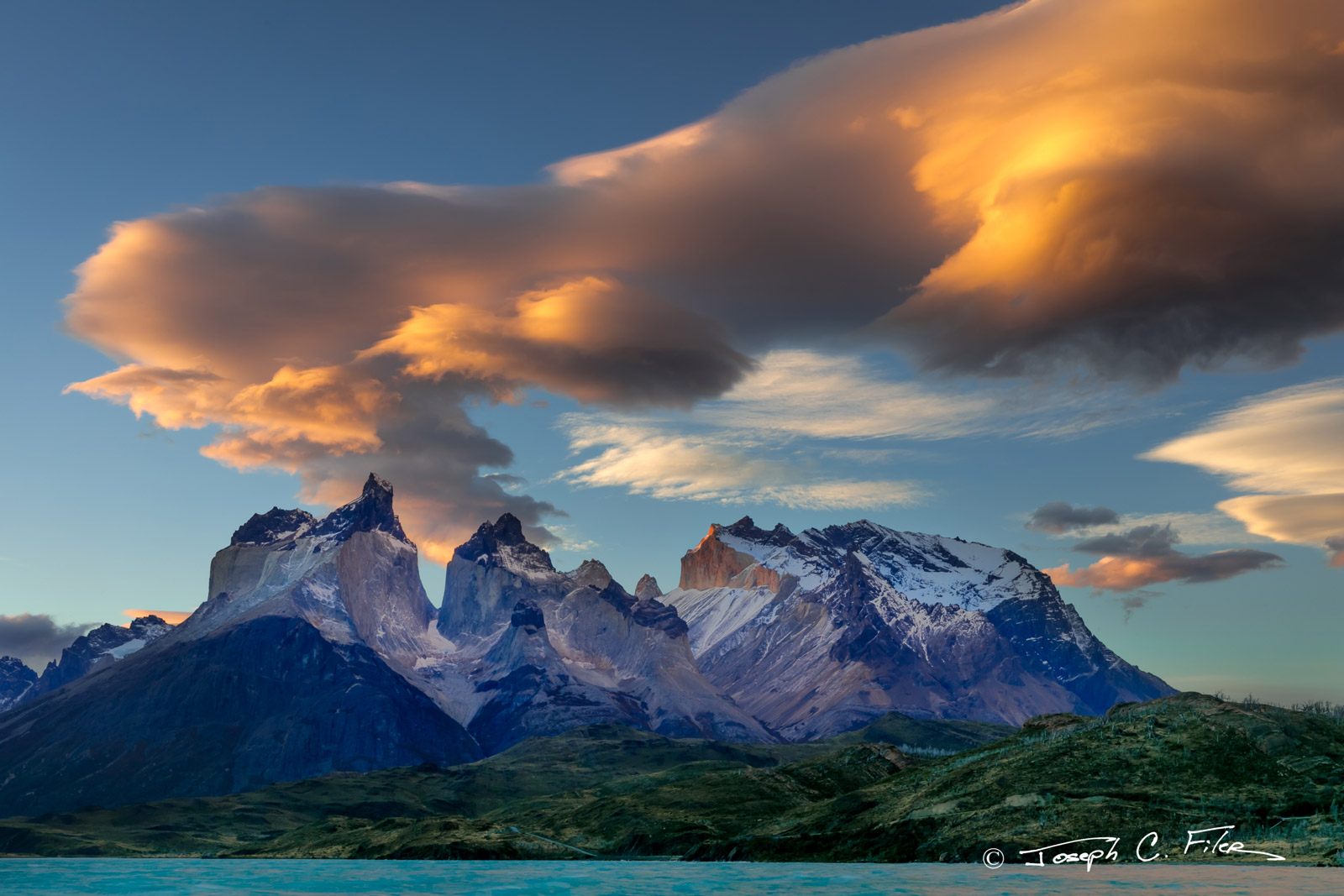 Chile, Patagonia, Torres del Paine, Mountain, Lenticular, Clouds, limited edition, photograph, fine art, landscape, photo