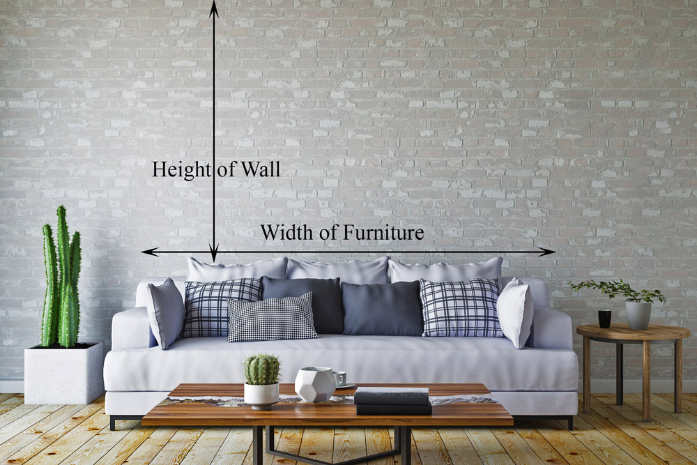 Diagram of dimensions needed for custom room preview photo