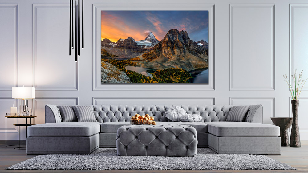 Display of Canada Mountain Photography