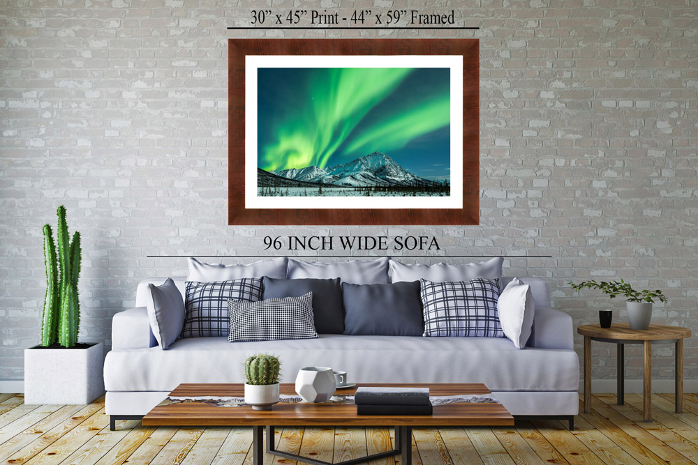 Display of Framed Aurora