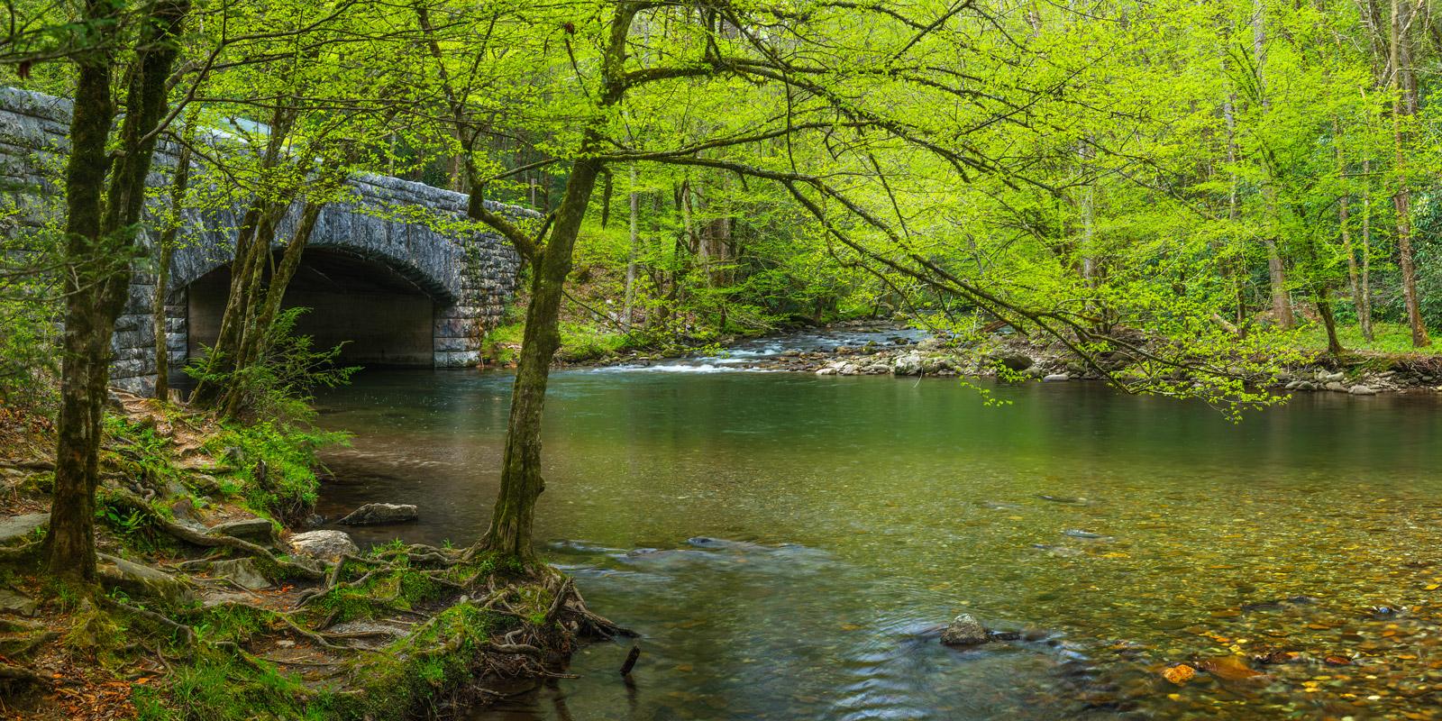 Tennessee, River, Little River, Smoky Mountains, Bridge, Stone Bridge