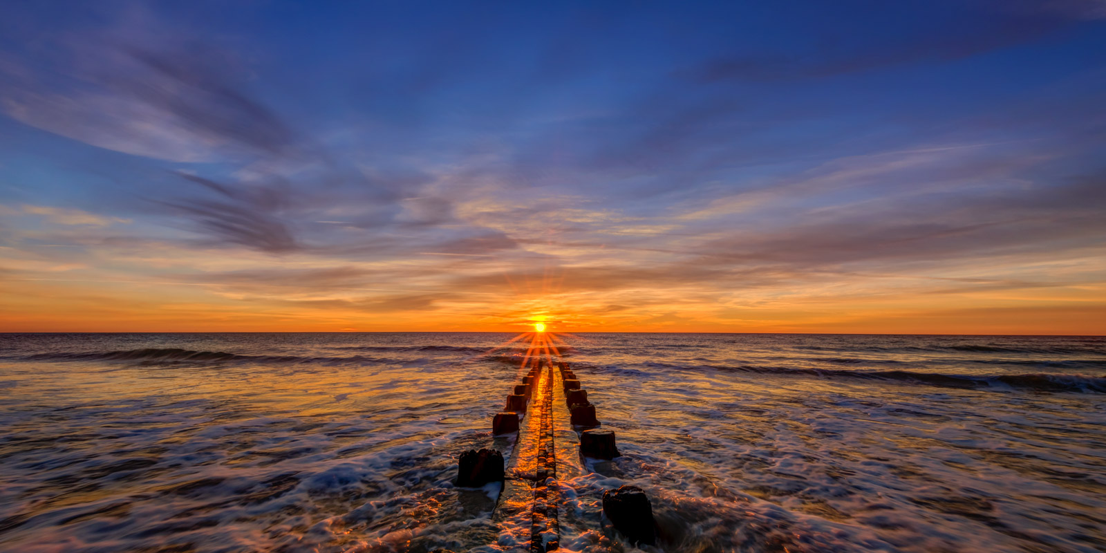 Carolina Coast Fine Art Photography A Limited Edition, Fine Art photograph looking down the length of an old wood jetty going...