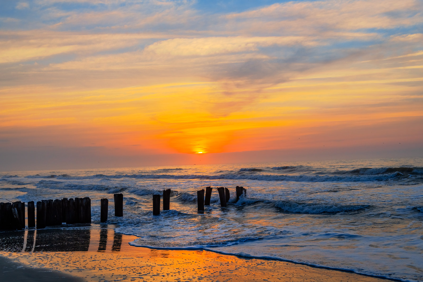 A Limited Edition, Fine Art photograph of a beautiful sunrise at Folly Beach in Charleston, South Carolina. Available as a Fine...