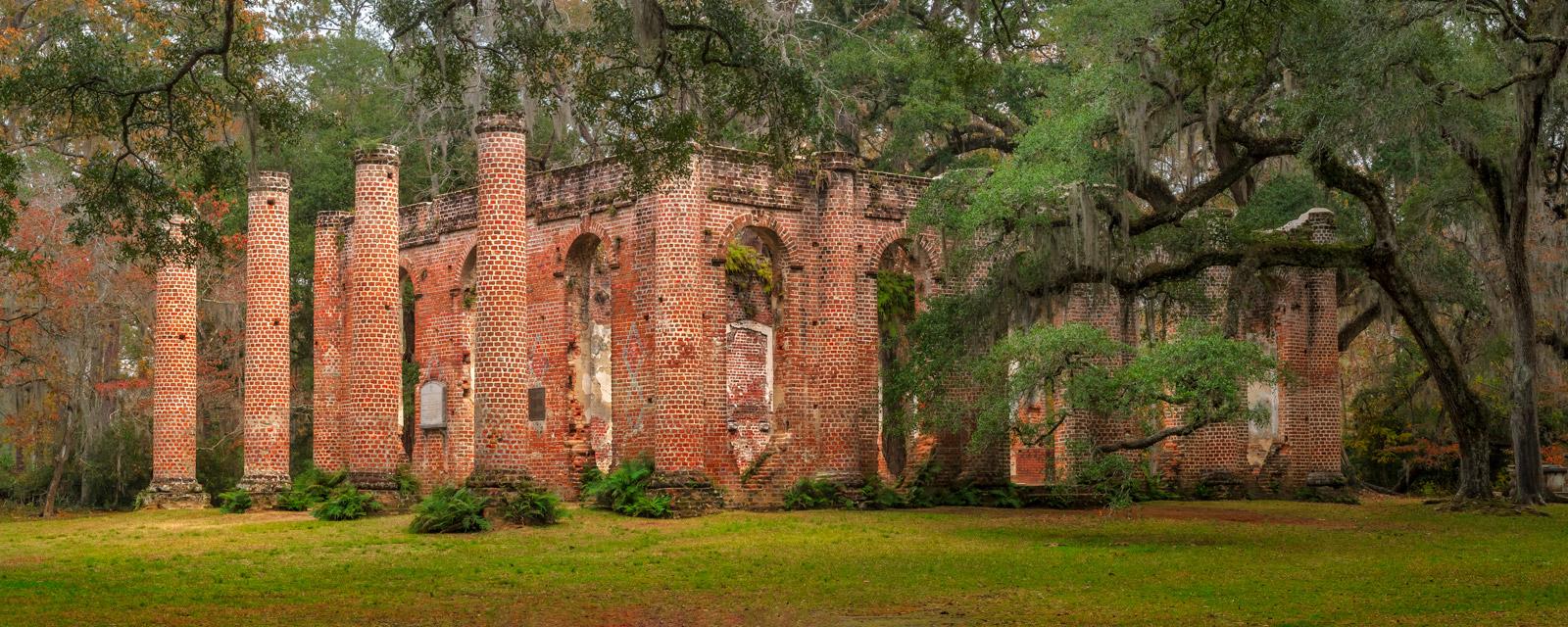 South Carolina, Sheldon, Church, Oak, Tree, limited edition, photograph, fine art, landscape, photo