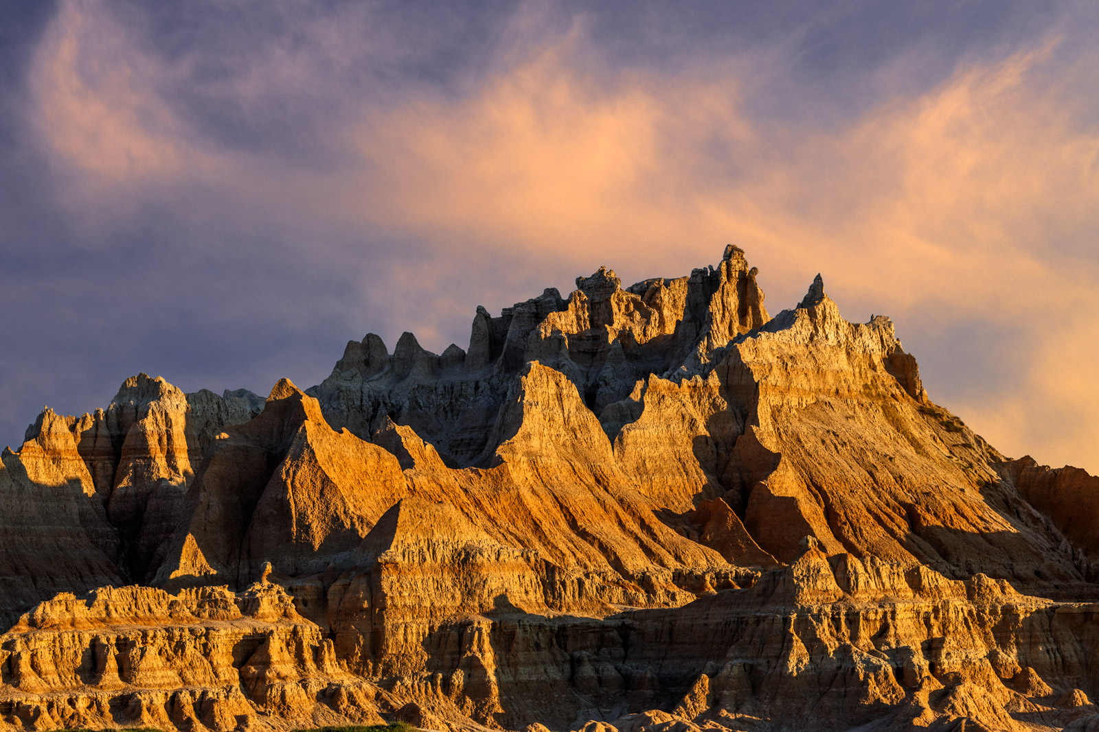 South Dakota, Badlands, National Park, Rock, Formations, Sunrise, photo