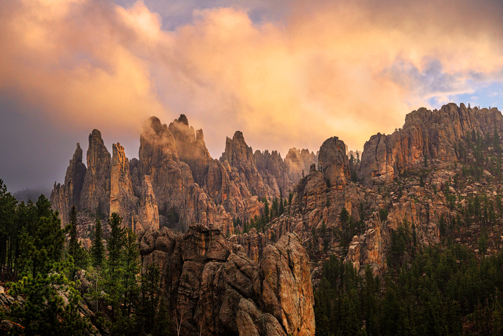 South Dakota, Custer, Sunrise, Needles, Needles Highway, Rock, Formations, photo