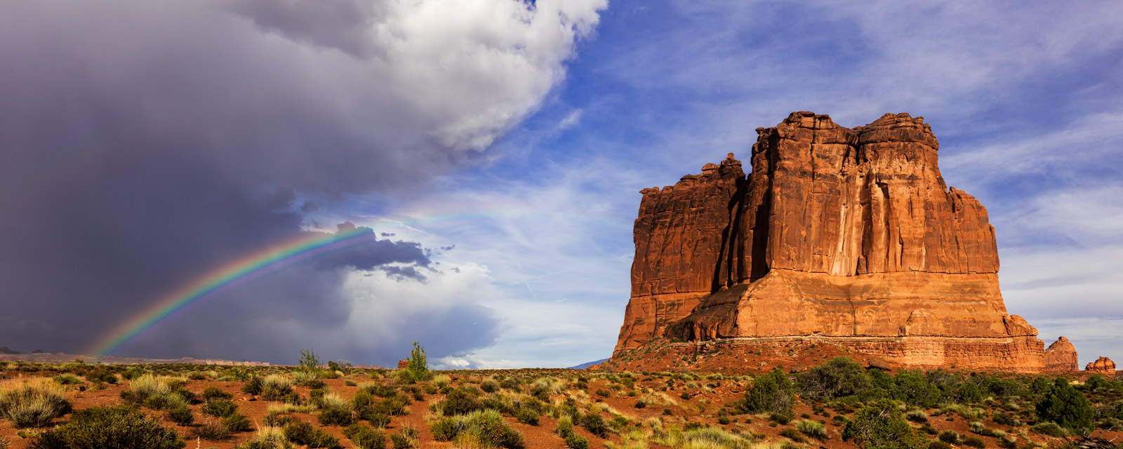 Utah, Arches, National Park, red rock, rainbow