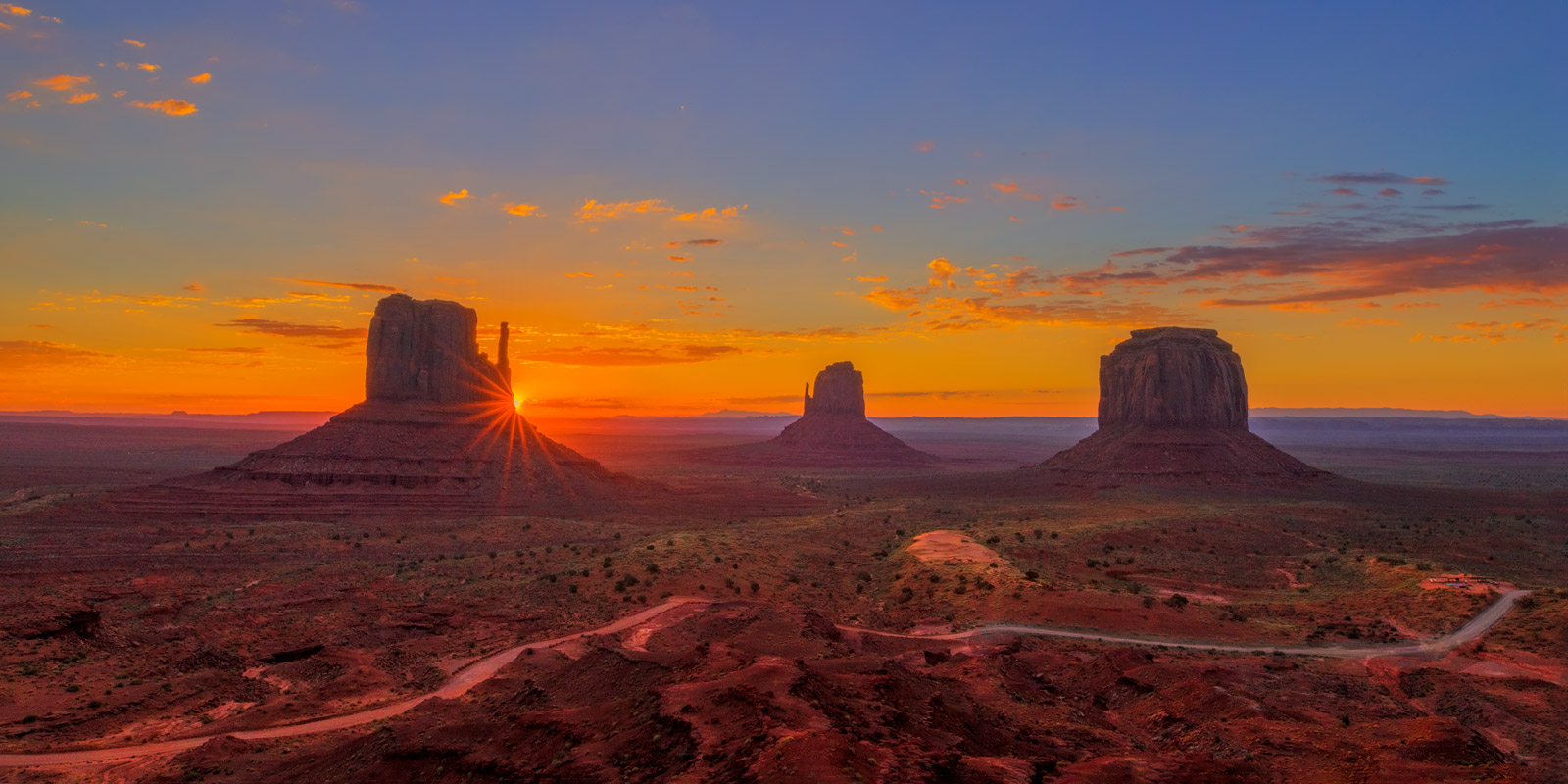 Utah, Mitten, Monument, Valley, Sunrise, photo