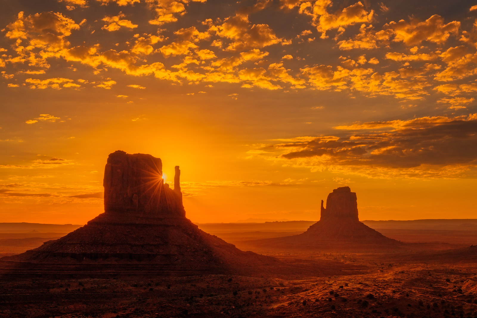 Utah, Monument, Valley, Sunrise, Glow