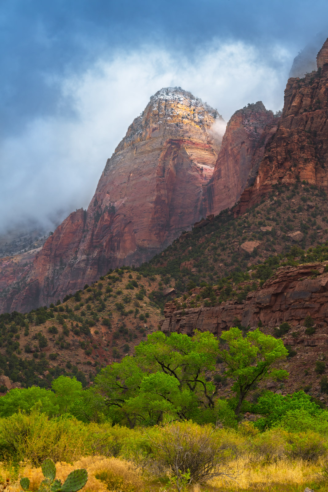 Utah, Zion National Park, Mountains, Clouds, fine art, landscape, photo