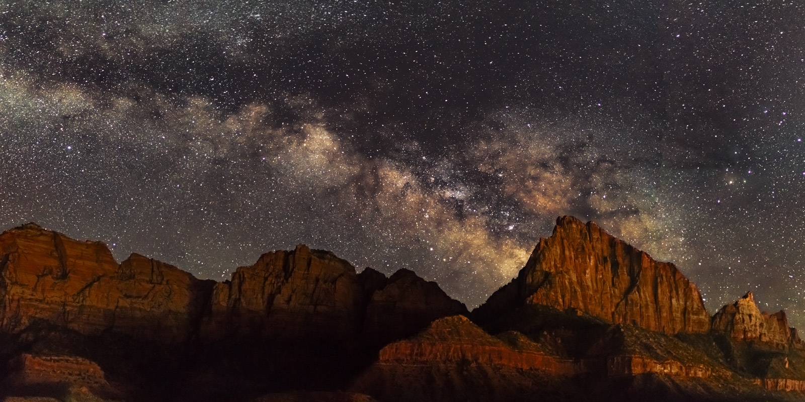 Utah, Milky Way, Zion National Park, The Watchman, photo