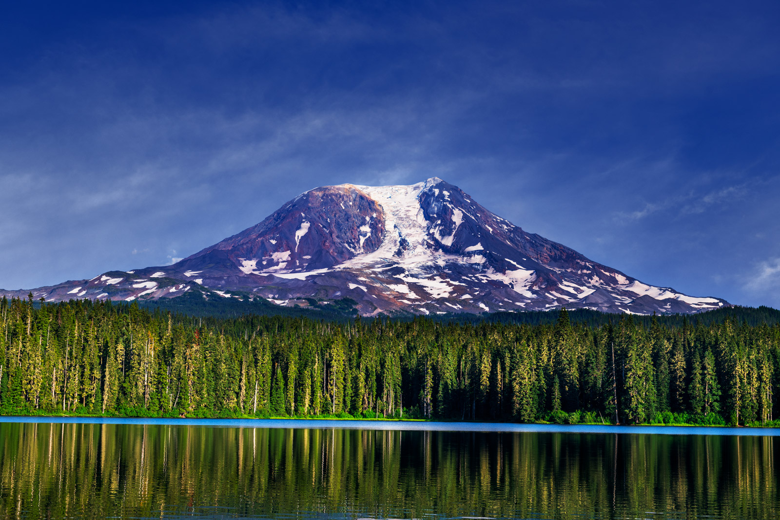 A Limited Edition, Fine Art photograph of Mountain Adams rising above Takhlakh Lake in Washington. Available as a Fine Art print...