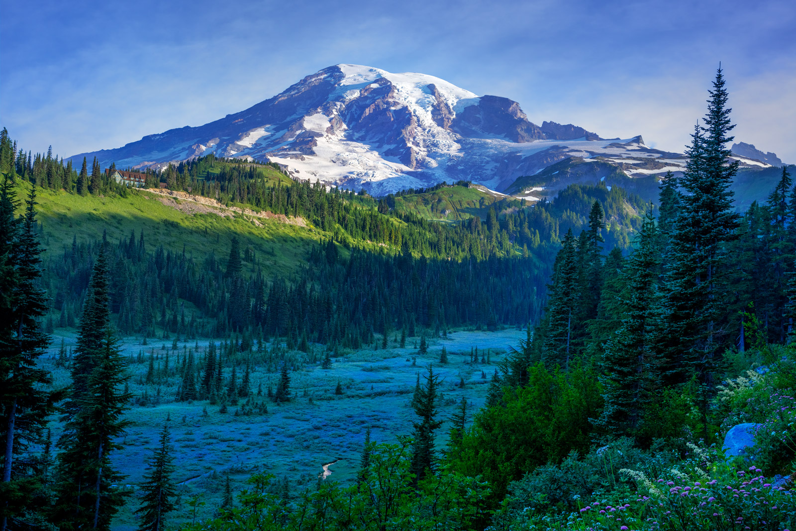 A Limited Edition, Fine Art photograph of Mount Rainier in Washington in the early morning.  Available as a Fine Art Print, Metal...