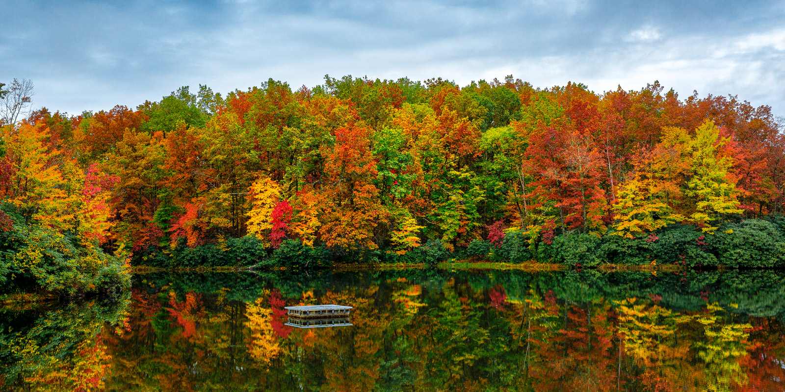 West Virginia, Babcock, Boley, Lake, Fall, Color, limited edition, photograph, fine art, landscape, fall color, photo