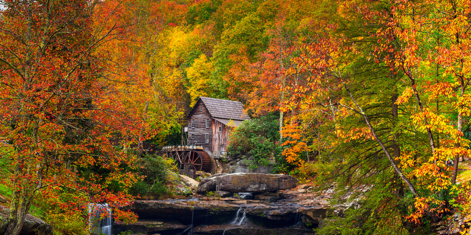 West Virginia, Babcock, Glade Creek, Grist Mill, Fall, Color, fall color, photo