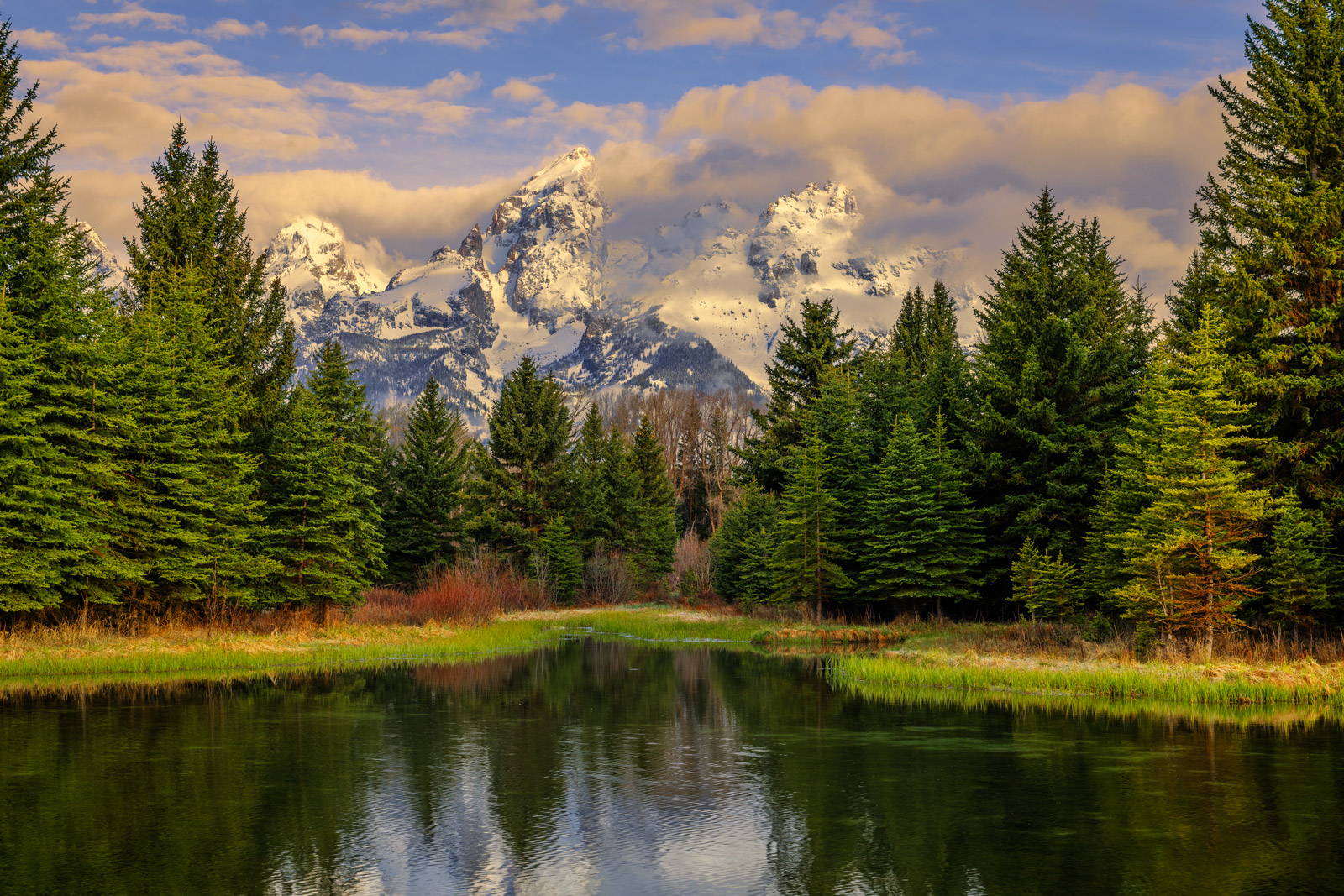 Wyoming, Teton, Grand Teton, Mountains, Sunlight, Schwabachers, Landing, photo