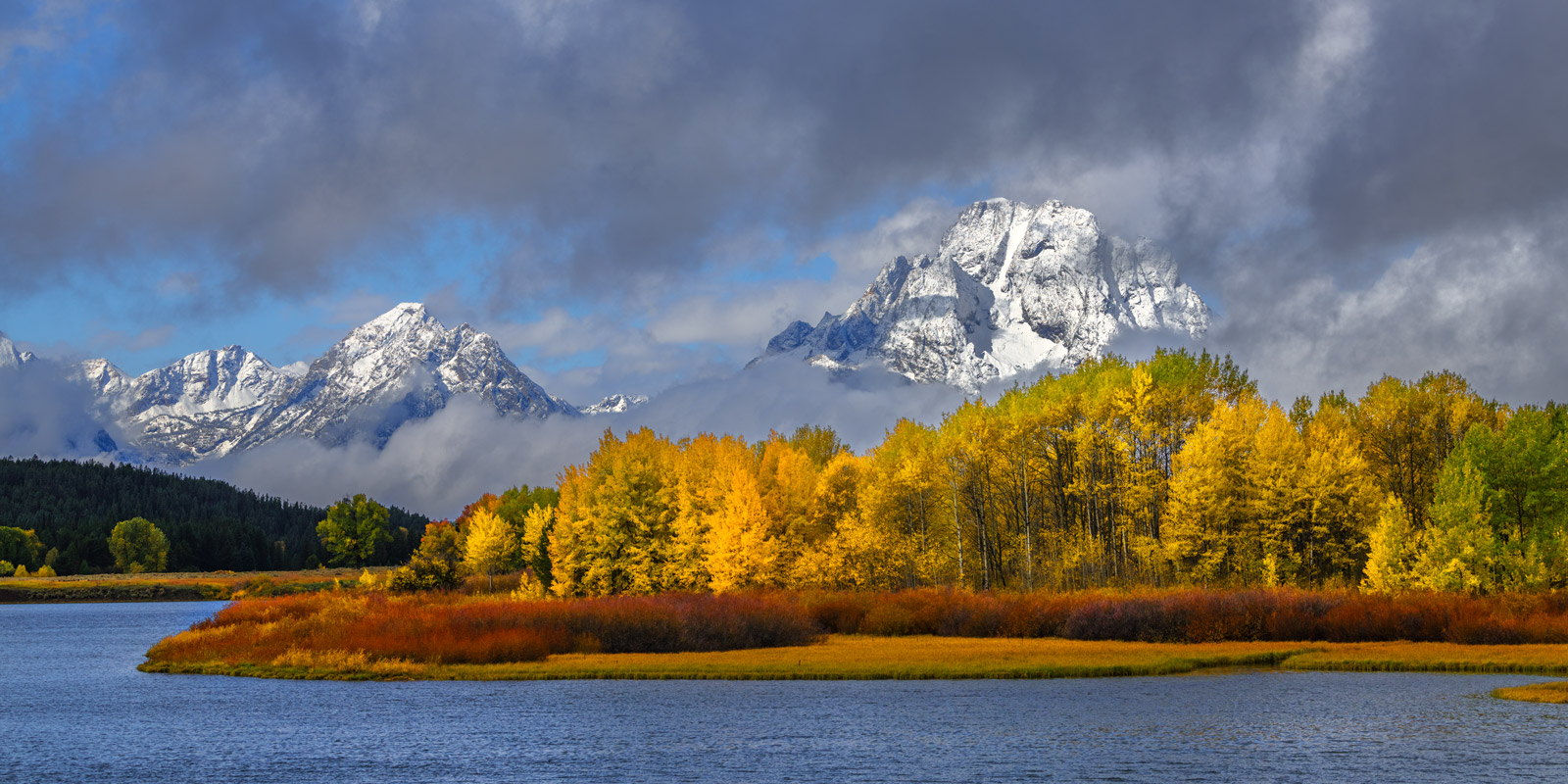 Wyoming, Grand Teton, National Park, Snake River, Owbow Bend, Fall, Snowstorm, limited edition, photograph, fine art, landscape, photo