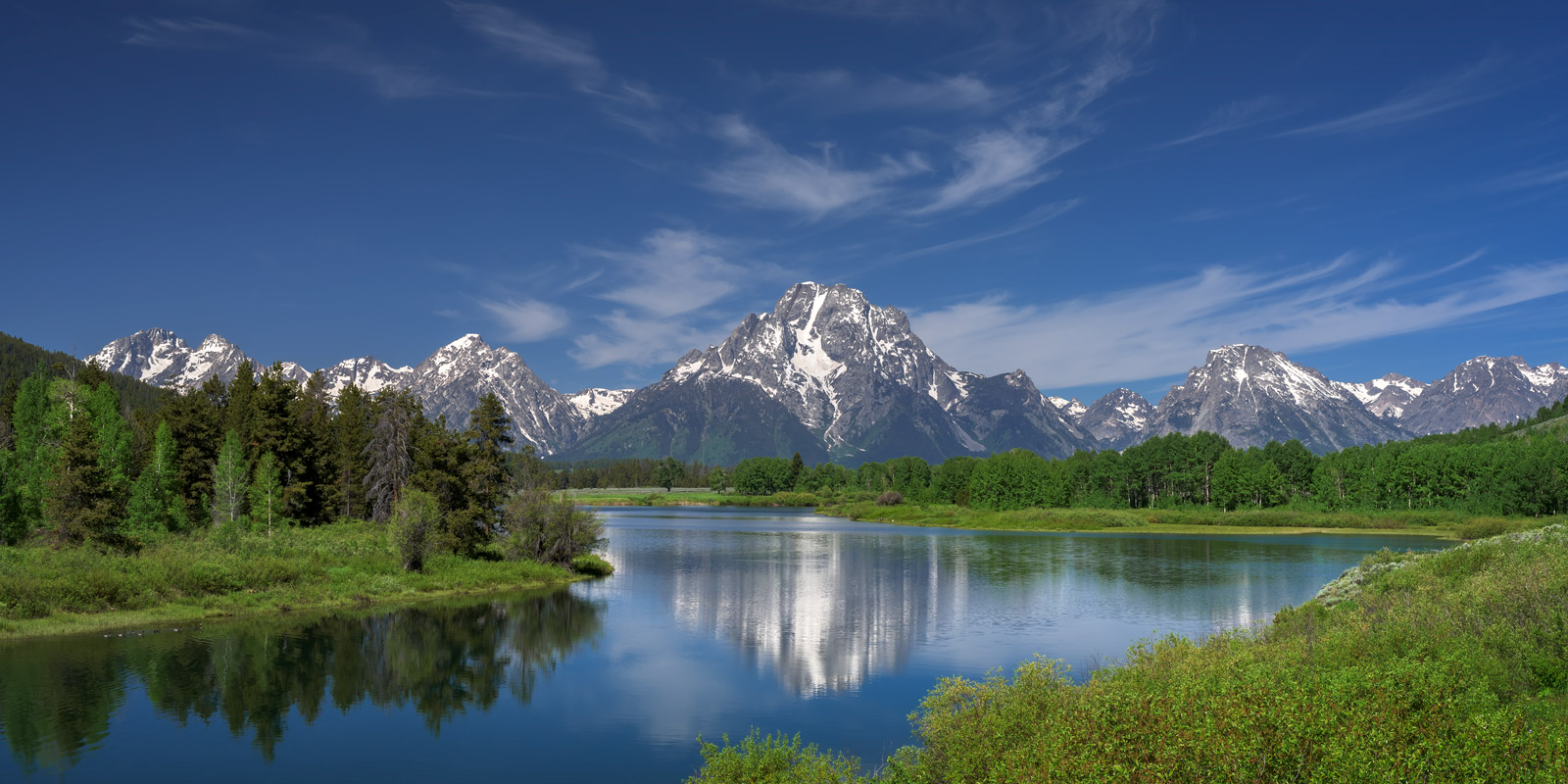 Oxbow Bend in the Tetons in Spring