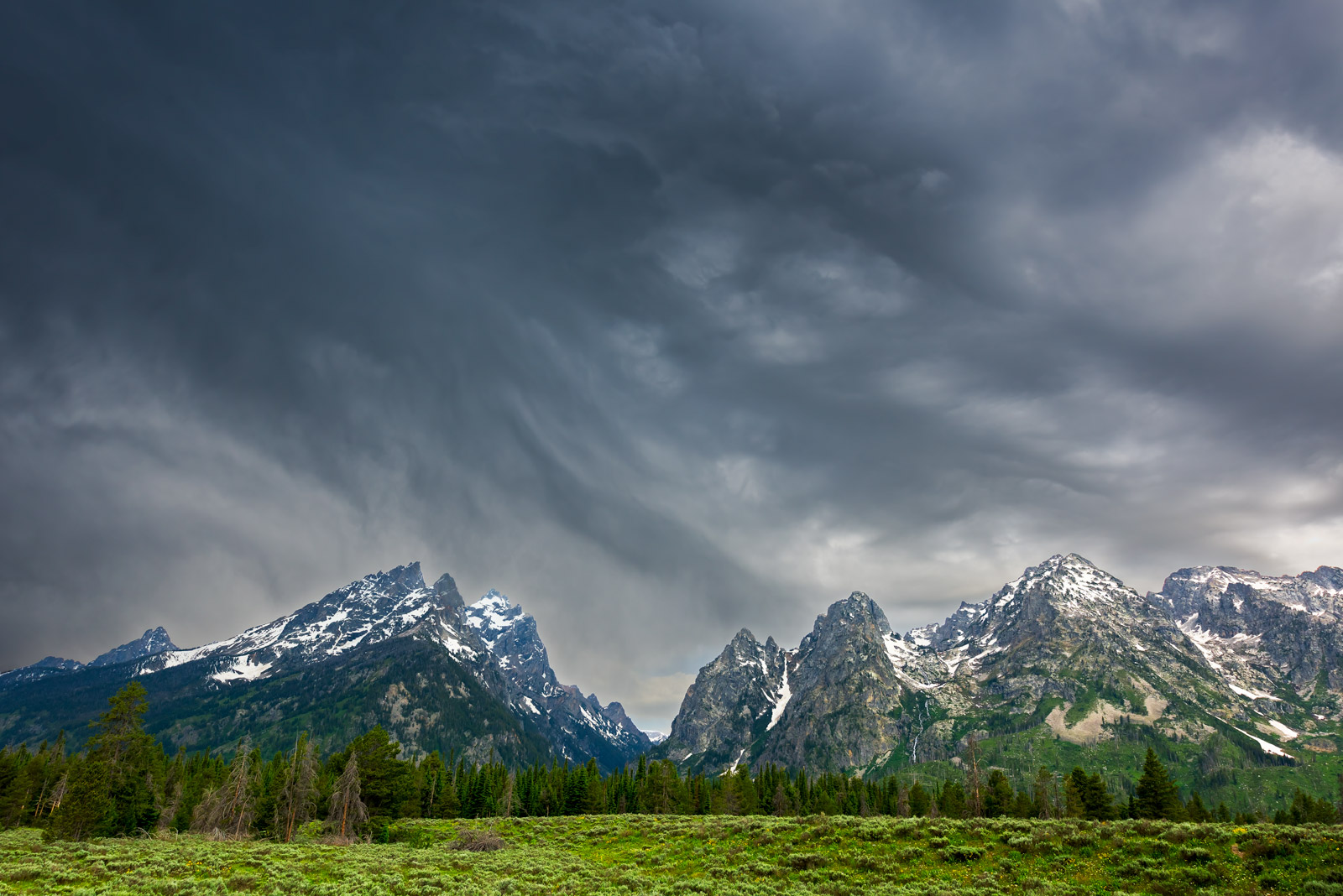 Wyoming, Tetons, Grand Tetons, storm, clouds, limited edition, photograph, fine art, landscape, photo