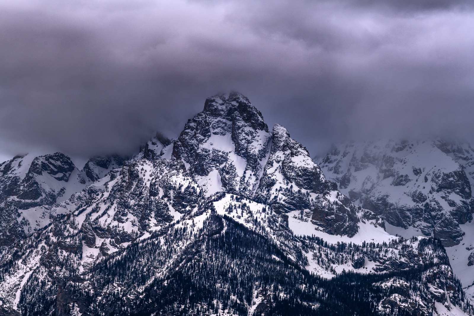 Wyoming, Grand Teton, National Park, Mountain, Storm, Clouds