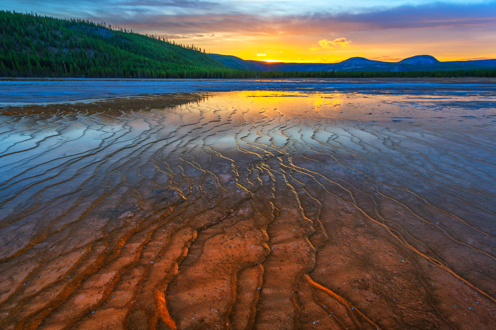Wyoming, Yellowstone, National Park, Thermal, Basin, Spring, photo