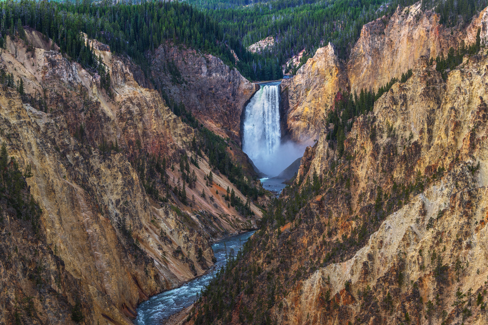Wyoming, Yellowstone, National Park, Grand Canyon, Waterfall
