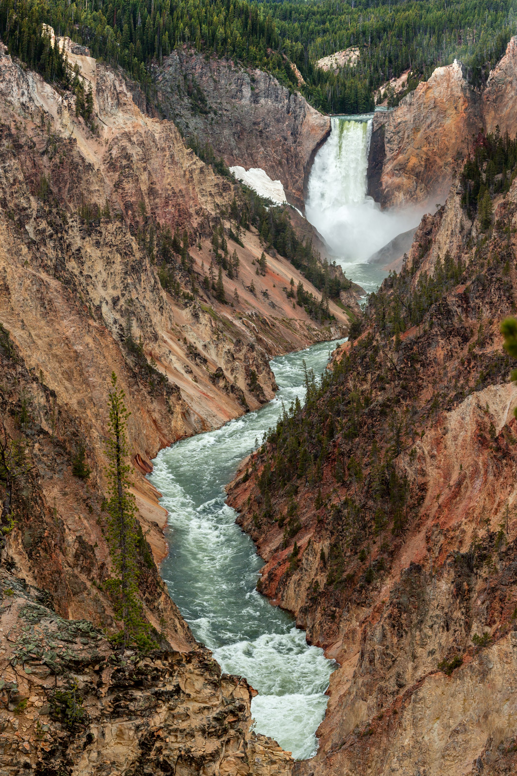 A Limited Edition, Fine Art photograph of Yellowstone Falls at the Grand Canyon of the Yellowstone in Yellowstone National Park...